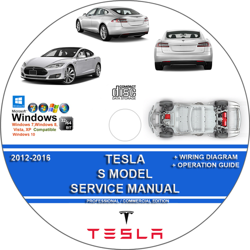 Product picture TESLA S Model 2012-2016 Service Repair Manual + Wiring