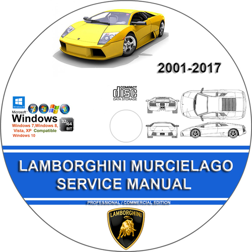 Product picture LAMBORGHINI MURCIELAGO Service Repair Manual 2001-2017