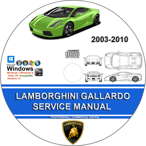 Product picture LAMBORGHINI GALLARDO Service Repair Manual 2003-2005 and 200