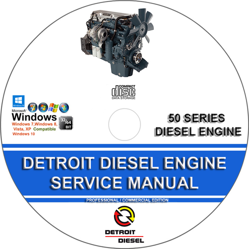 Product picture DETROIT DIESEL SERIES 50 AND 50G SERVICE REPAIR MANUAL