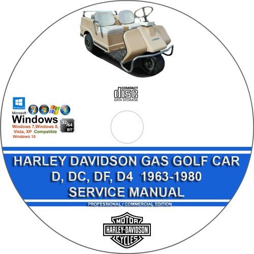 Product picture Harley Davidson Gas Golf Car D, DC, DF, D4 1963-1980 Manual