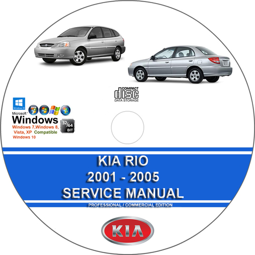 Product picture Kia Rio 2001 2002 2003 2004 2005 Service Repair Manual