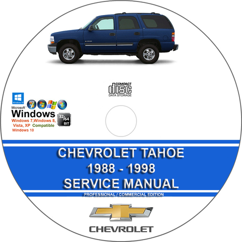 Product picture Chevrolet Tahoe 1988 - 1998 Service Repair Manual