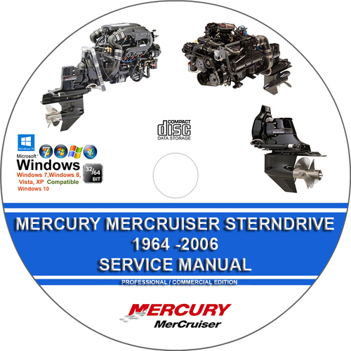 Product picture Mercury Mercruiser Sterndrive 1964 - 2006 Service Manual