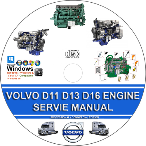 Product picture VOLVO TRUCK D11 D13 D16 ENGINE SERVICE REPAIR MANUAL